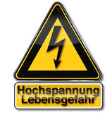 Danger power and flash. And high voltage Royalty Free Stock Photos