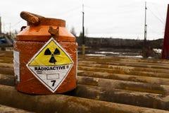 Danger. Radiation contamination. grunge, zone atomic, protection royalty free stock image