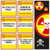 Danger radiation. Royalty Free Stock Photos