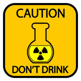Danger radiation sign Stock Photography