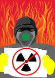 Danger radiation sing Stock Photos