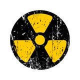 Danger radioactif de vieux signe Rétro symbole toxique minable GR de danger illustration stock