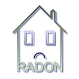 The danger of radon gas in our homes - concept illustration Stock Images