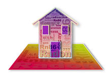 The danger of radon gas in our homes - concept illustration Stock Photo