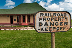 Danger - Railroad Property stock photos
