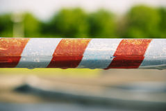 Danger ribbon. Orange tape for dangerous zones Stock Photography