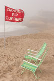 Danger rip current Stock Images