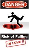Danger : Risque d'être amoureux Images stock