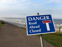 Danger, road closed. Royalty Free Stock Image
