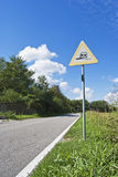 Danger road sign Stock Photo