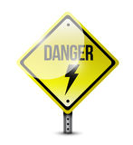 Danger road sign illustration design Royalty Free Stock Photography