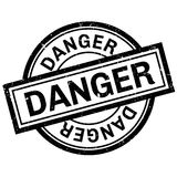 Danger rubber stamp Stock Photos