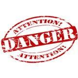 Danger. Rubber stamp with word danger inside,  illustration Stock Image