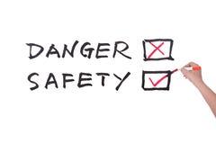 Danger or safety Stock Image