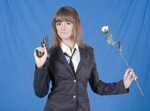Danger school girl Royalty Free Stock Images
