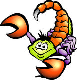 Danger Scorpion. Hand-drawn Vector illustration of an Danger Scorpion Royalty Free Stock Images
