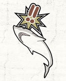 Danger shark Stock Image
