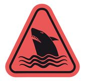 Danger shark sign Royalty Free Stock Photos