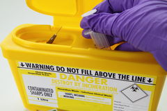 Danger sharp needle hazard Stock Images