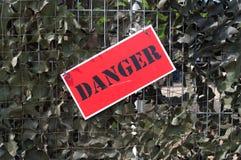 Danger shield Stock Image