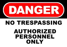 Danger Sign. Illustration of danger sign - no trespassing Royalty Free Stock Photo