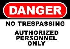 Danger Sign. Illustration of danger sign - no trespassing royalty free illustration