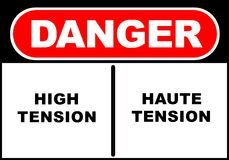 Danger sign stock image