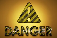 Danger Sign stock illustration