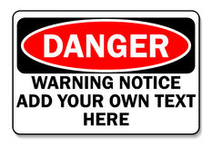 Danger sign. Customize as needed Stock Photo