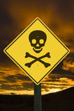 Danger sign. Royalty Free Stock Photos