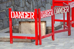 Danger Sign. At the Work Place Royalty Free Stock Images
