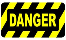 Danger Sign 2 Royalty Free Stock Photo
