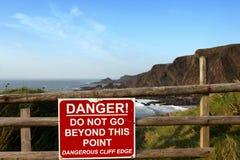 A danger sign Stock Photos