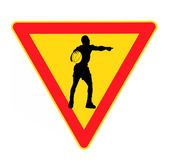 Danger sign. For basketball isolated on the white background Royalty Free Stock Photos