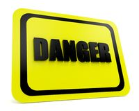 Danger sign 3d Royalty Free Stock Photo