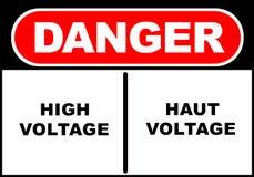Danger Sign. Illustration of a danger sign - high voltage - haut voltage royalty free illustration