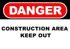 Danger Sign. Illustration of a danger sign - construction area Royalty Free Stock Photos