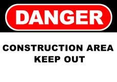 Danger Sign. Illustration of a danger sign - construction area stock illustration