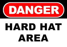 Danger Sign. Illustration of a danger sign - hard hat area Royalty Free Stock Photography