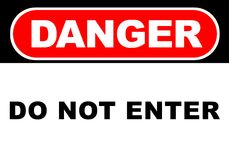 Danger Sign. Illustration of a danger sign - do not enter Stock Images