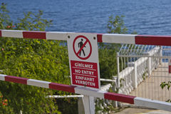 Danger Sign  antalya beach Royalty Free Stock Images