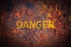 Danger sign background royalty free stock photos