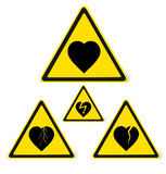 Danger sign. Beware of feelings Royalty Free Stock Photo