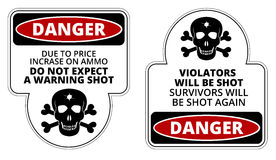 Danger. Sign - Beware of Owner. Humorous Comic Signs. Vector EPS8 set Stock Photo
