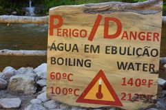 Danger sign of boiling water Royalty Free Stock Photo