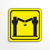 Danger sign. The collapse of the ceiling. Vector icon. Royalty Free Stock Photos