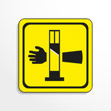 Danger sign. Cutting equipment. Vector icon. Royalty Free Stock Photography