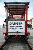 Danger sign. Danfer sign on the rear of train Stock Images
