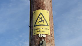 Danger Sign. Danger of death - keep off sign Stock Photos