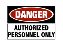 Danger sign - hard hats Royalty Free Stock Image